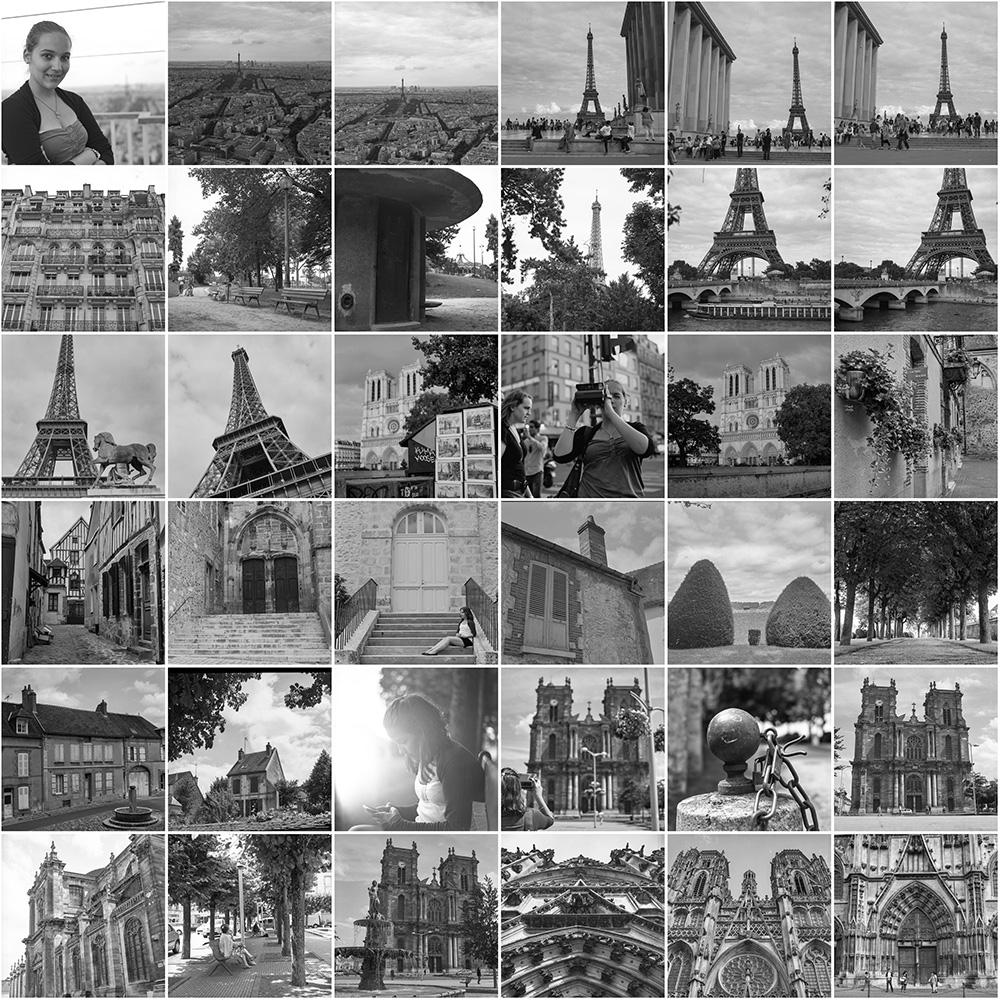Scans Kontaktabzug Hasselblad 6x6 Paris Frankreich