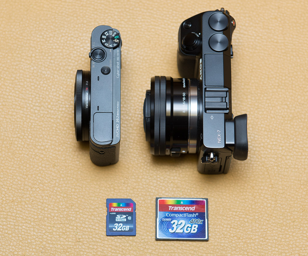 Sony RX100 vs. Sony NEX 7