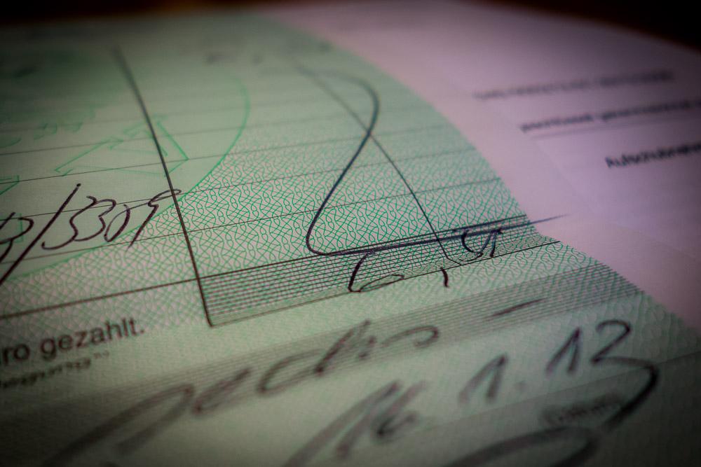 Zollrechnung Handschriftlich