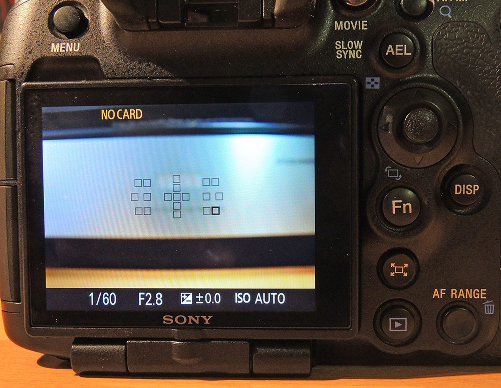 Sony A99 AF - Felder