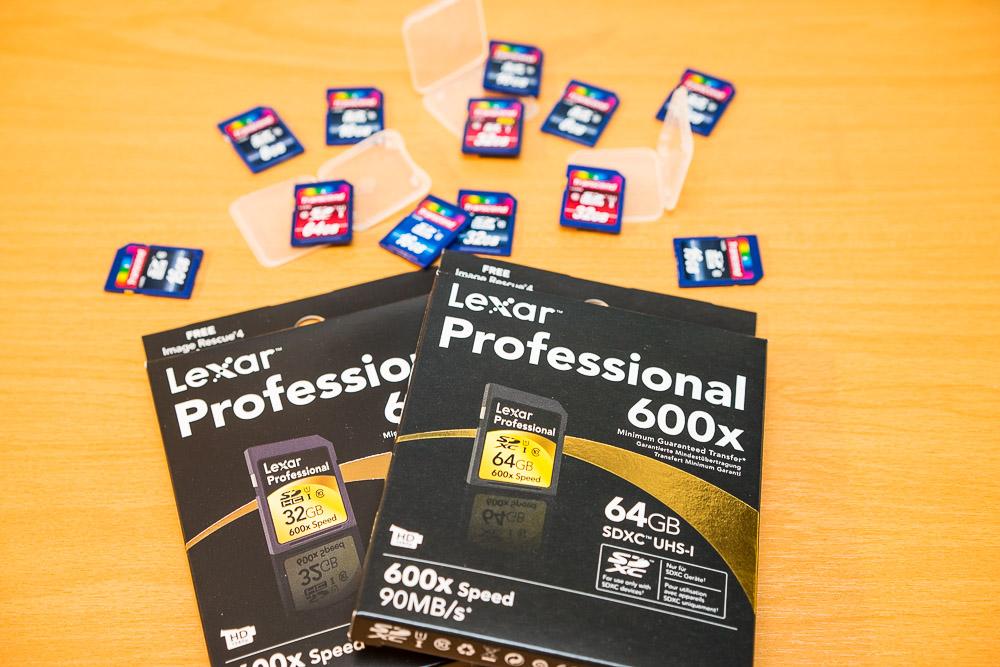 Wechsel auf Lexar SD Cards
